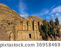 Ancient abandoned rock city of Petra in Jordan tou 36958469