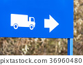 truck, direction, sign 36960480