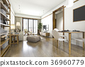 wood scandinavian living and dining room 36960779
