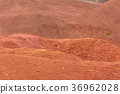 Martian like landscape with red deserty surface 36962028