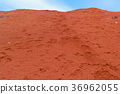 Martian like landscape with red deserty surface 36962055