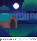 夜晚 晚上 月亮 36962227