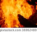 Background image of burning fire 36962489