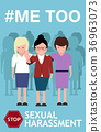 Sexual harassment poster with women 36963073