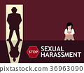 Sexual harassment poster with girl 36963090
