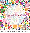 Colorful candy background with jelly beans, and je 36966097