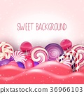 Candy of pink land background 36966103