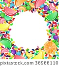 Colorful candy background with jelly beans, and je 36966110