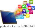 social media mobile 36966343