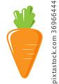 胡蘿蔔 蔬菜 圖標 36966444
