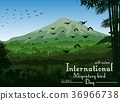 Mountains landscape of tropical background with fl 36966738