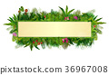 Tropical plants background. rectangle floral frame 36967008
