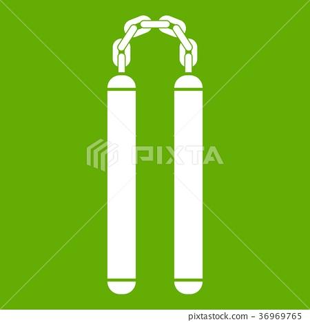 Nunchaku icon green 36969765