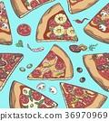 披薩 花紋 圖樣 36970969