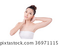 Beautiful woman over white background 36971115