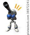 망원경을 들여다 귀여운 로봇 36972241
