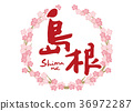 shimane, calligraphy writing, cherry blossom 36972287