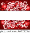 Sweet banner with lollipop and candies cane 36972714