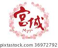 宫城刷字符樱花框架 36972792