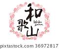 Wakayama brush character cherry blossoms frame 36972817
