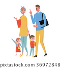 Shopping illustration family 36972848