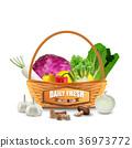 vegetable, wicker, basket 36973772
