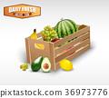 fruit, wooden, crates 36973776
