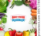 Healthy food vegetable background 36973780