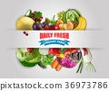 Vegetables and fruits 36973786
