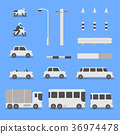 Transport vehicles collection 36974478