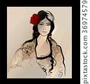 Traditional Spanish Flamenco woman 36974579