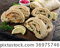 delicious baked ground fish fillet roulade 36975746