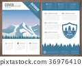forest, mountain, vector 36976410