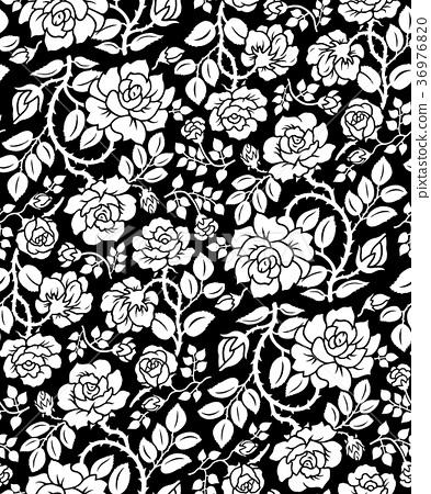 패턴, 무늬, 장미 36976820