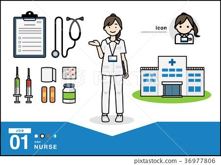 護士 成熟的女人 一個年輕成年女性 36977806