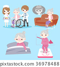 old woman with health problem 36978488