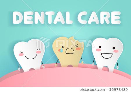 cute cartoon tooth 36978489
