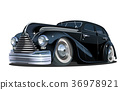 Cartoon retro car 36978921
