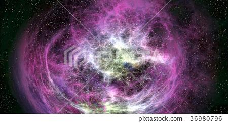 鮮豔細緻的外太空和銀河系紋理背景(無縫接圖,高分辨率 2D CG 渲染∕著色插圖) 36980796