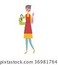Soji與桶的婦女例證 36981764
