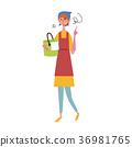 插圖的女人 36981765