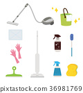 청소 용품 일러스트 36981769