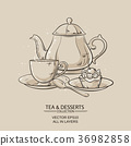 tea and dessert 36982858
