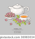 rose tea on grey background 36983034