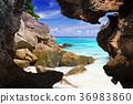 Tropical beach scenery at Andaman Sea, Thailand 36983860
