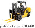 Forklift Truck, 3D rendering 36984400