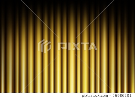 Curtain of golden background 36986201