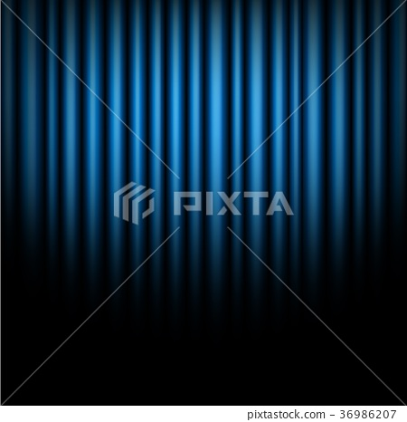 Curtain of blue background 36986207