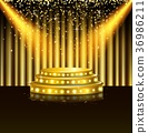Spotlight of shining on stage background 36986211