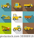 construction, machinery, icons 36988916